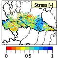 Estate 2015: alcune mappe relative allo stress idrico prodotte dal progetto S4A